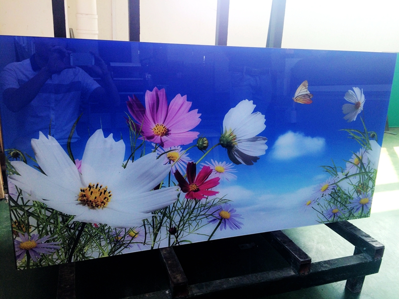 供应玻璃画 冰晶画 UV喷绘玻璃装饰画 酒店壁挂玻璃无框画