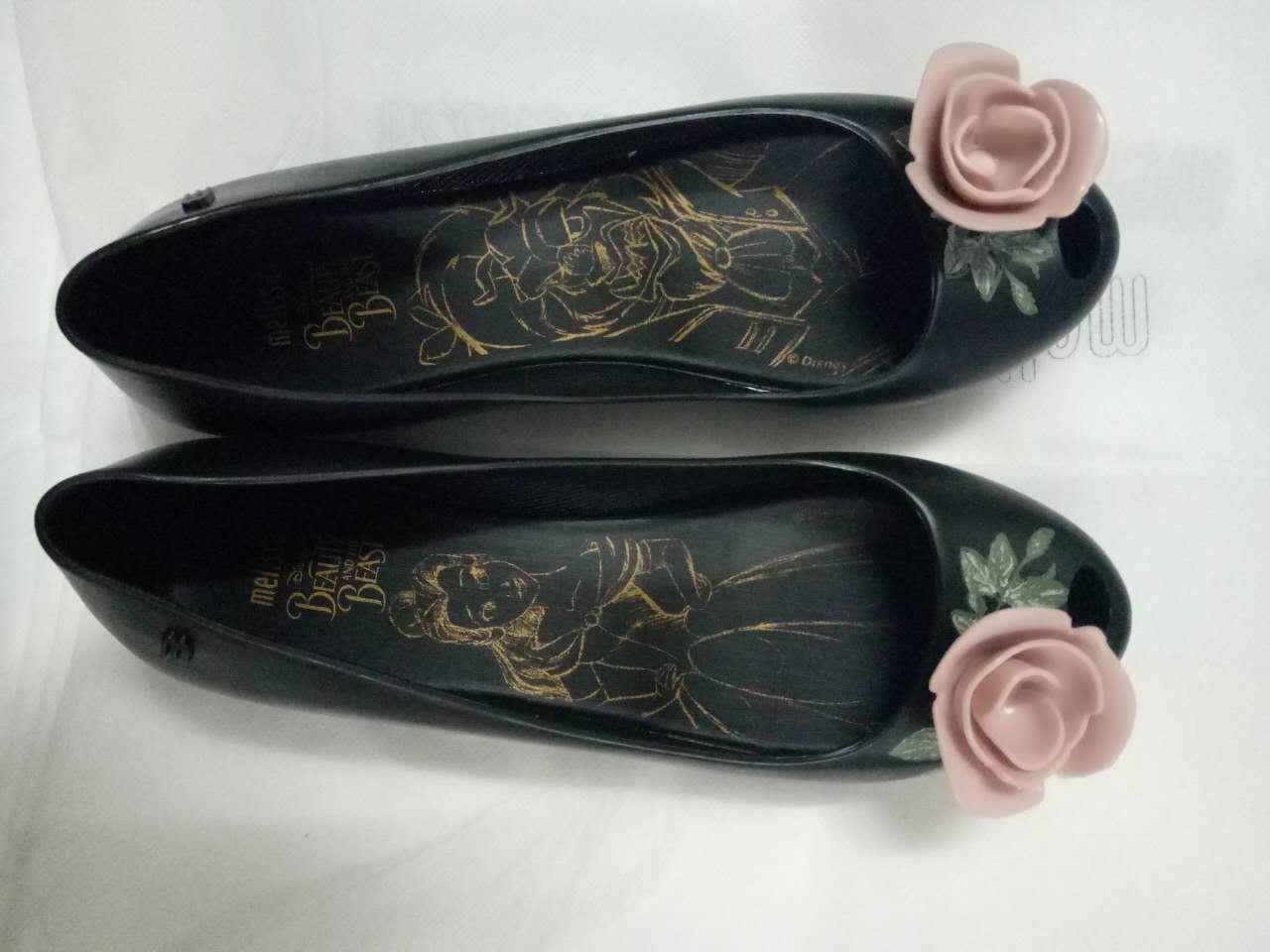 大牌款2017新款女鞋浅口蝴蝶结圆头粗跟3.5cm高端女单鞋一件代发 果冻女单鞋一件代发