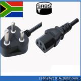 现货供应大南非三插电源线,三芯南非电源线0.75平方南非电源线
