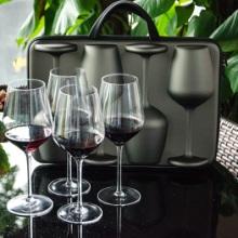 芯锐酒具畅享四只装人工无铅水晶红酒杯葡萄酒杯户外便携酒杯套装
