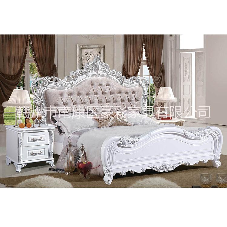 欧式板木结合成套家具简约衣柜翻盖门衣橱1.8米双人大床自制家具