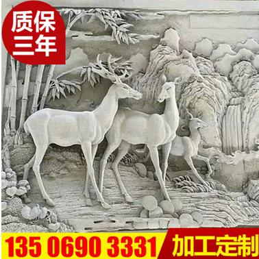 园林动物浮雕雕刻壁画 园林