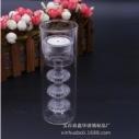 创意烛台创意双层玻璃烛台 手工制作玻璃烛台 定制创意烛台