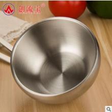 304不锈钢碗 双层隔热碗儿童家用餐具防摔 可定制LOGO厂家直销图片