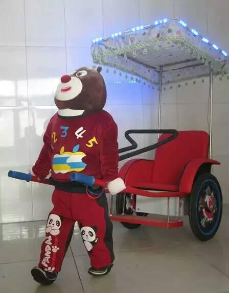 热销产品熊大机器人拉车