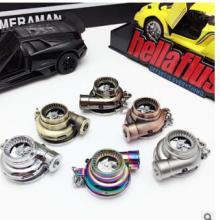 汽车改装USB可充电涡轮钥匙扣创意汽车LED涡轮钥匙链挂件厂家批发