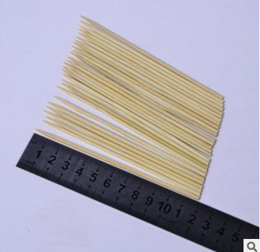 厂家长期销售 12cm热狗香肠竹签 夜宵烧烤竹签竹串 园竹签批发