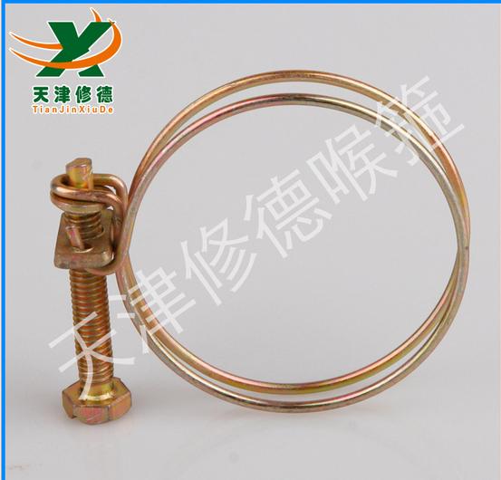 TJXD不锈钢镀锌钢丝卡箍 双钢丝喉箍 钢通风管箍100mm