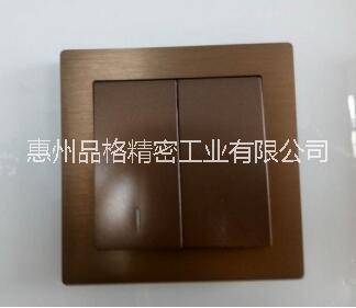 供应五金面板加工订制  咖啡色色金属面板广东五金面板加工