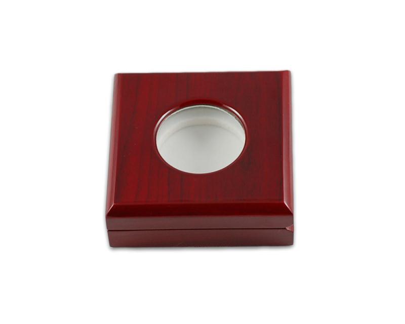 厂家定做 纪念币包装盒 金币木盒 银币礼盒 木质盒子 微章盒