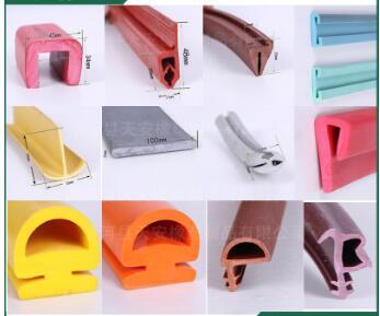 PVC橡塑密封条 彩色橡塑 橡胶密封条 挤出橡塑包边装饰条 高温挤出装饰密封条