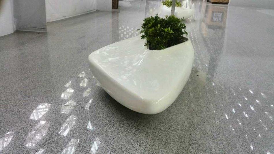 玻璃钢花盆定制艺术花盆造型玻璃钢商场美陈花钵休闲坐凳树池定做图片