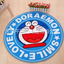 地垫供应 圆形卡通儿童印花地毯卧室地毯地垫供应