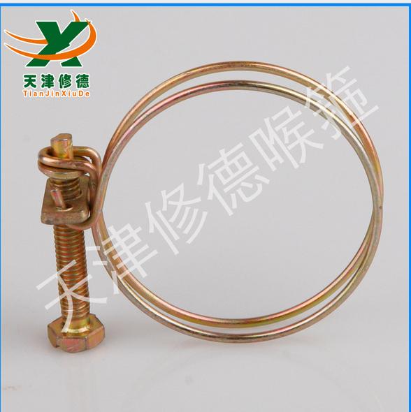 镀锌铁丝钢丝喉箍 双钢丝喉箍现货销售TJXD钢丝管通风管卡箍 7