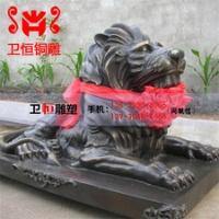铜狮子制作厂家铸造大型纯铜镇宅大型铜狮 大型仿古狮子摆件 故宫铜门狮雕塑
