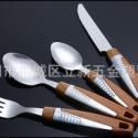 木纹组合手柄刀叉勺套装图片