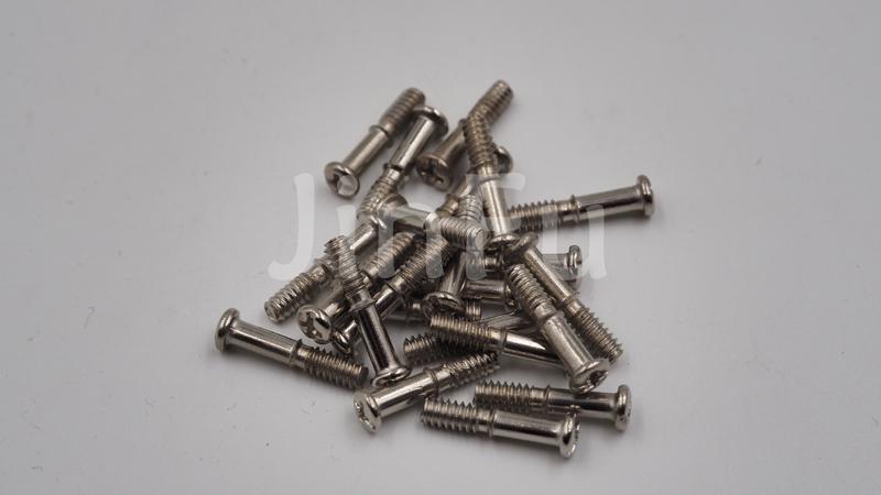 不锈钢/铜/铁/碳钢圆头半牙螺丝 上海金福钛业制造厂