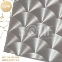 工程定制30CM直径不锈钢镭射CD纹板大花纹镭射板加工