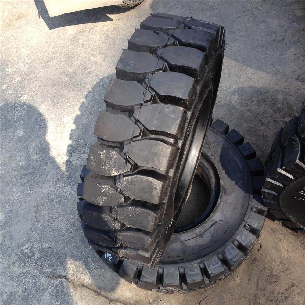 供应实心叉车轮胎5.00-8 工业车辆轮胎图片