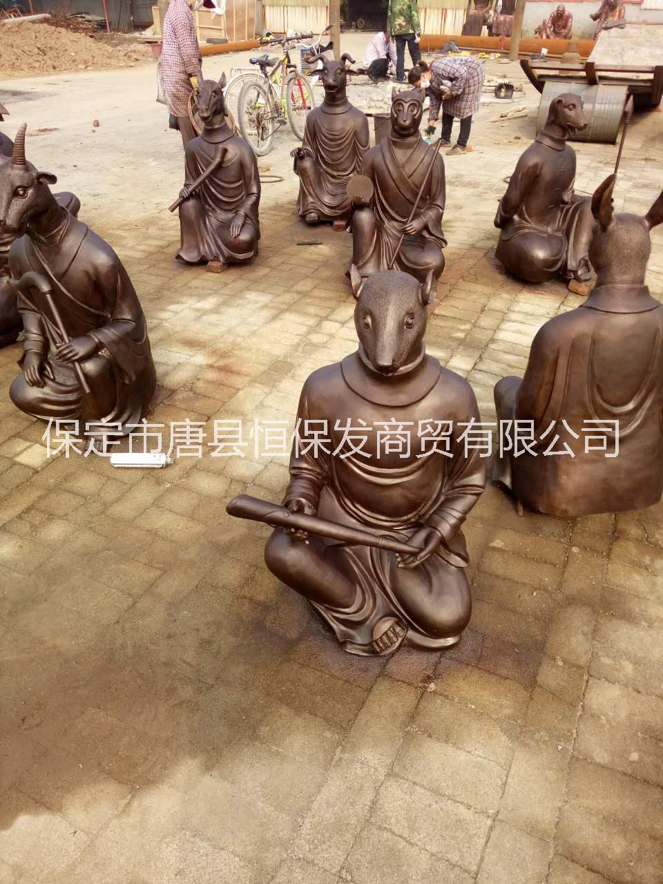 十二生肖 铜雕十二生肖  铸铜动物雕塑 纯铜工艺品 纯铜景观雕塑 园林铜雕 公园喷泉雕塑