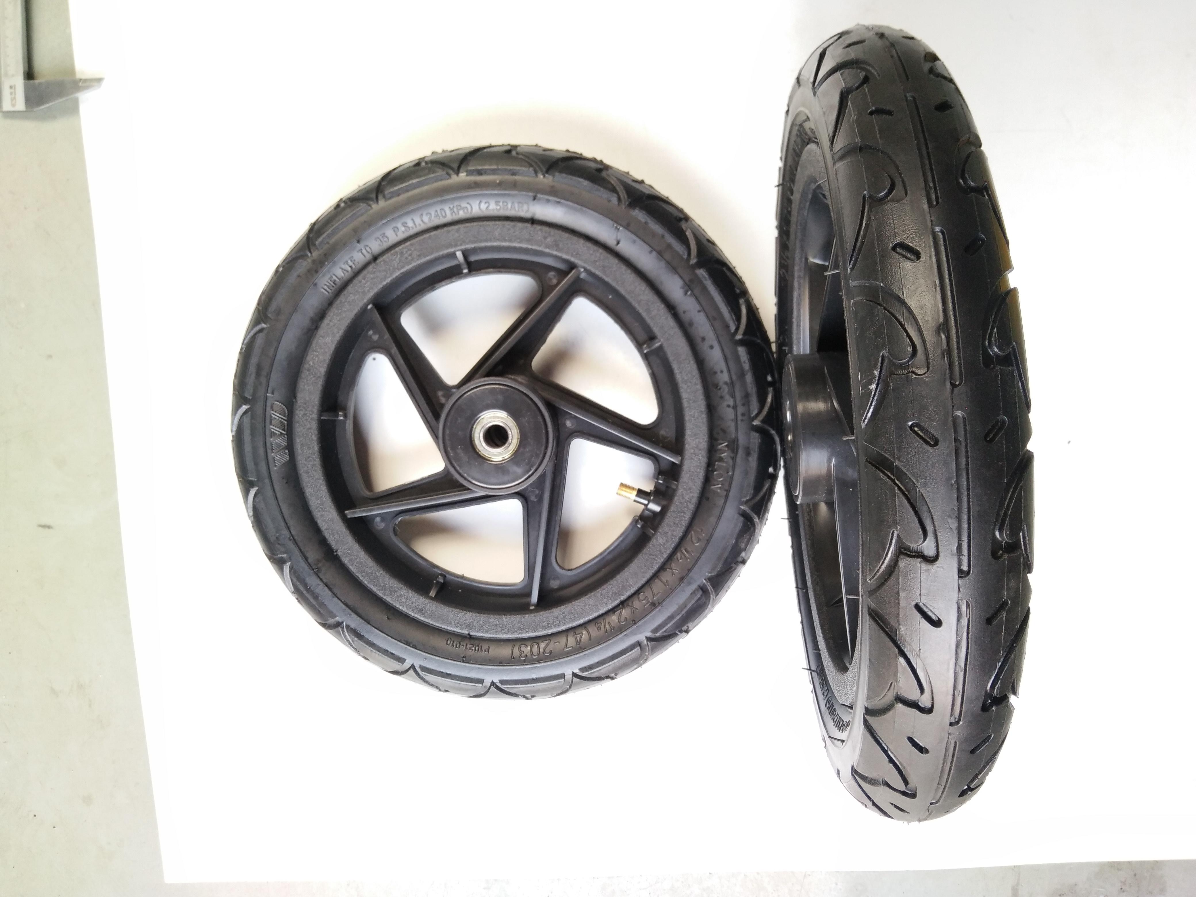 12寸塑料充气轮子12*2.125塑料轮辐充气轮子 12寸塑料斜五档轮辐充气轮