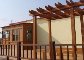 青岛园林景观工程木塑廊架定制 户外木塑连廊 防腐木廊架花架图片大全