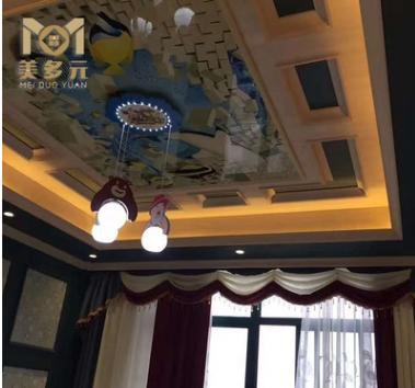 厂家直销3D背景墙装饰画 客厅吊顶天花板竹木纤维板 可来图定制