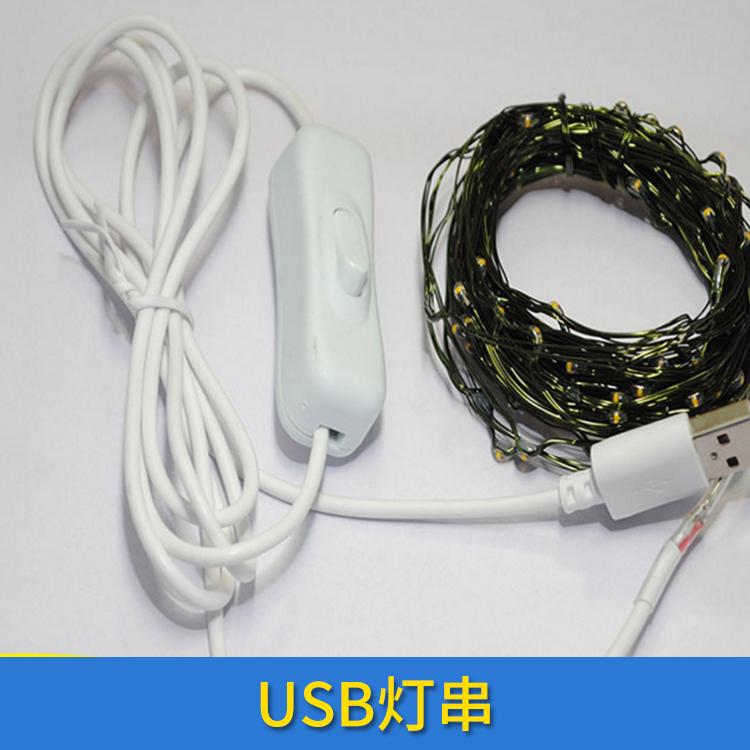 USB灯串 铜线灯串led电池盒闪灯串 USB防水铜线灯带遥控彩灯 欢迎来电定制