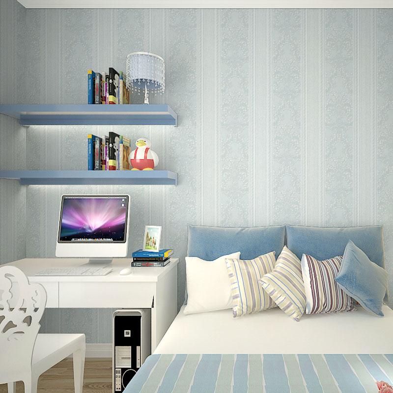 墙纸 客厅 素色 书房卧室环保无纺布壁纸3D欧式百搭竖条纹背景墙