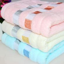 提缎割绒纯棉毛巾绣花面巾 纯棉毛巾