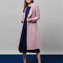 欧美潮牌双面羊绒大衣 品牌服装折扣店 品牌剪标批发