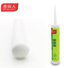 酸性硅酮玻璃胶998白色快干型玻璃胶厂家合威建材生产白云胶批发