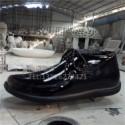 广州厂家直销 玻璃钢仿真雕塑皮鞋 仿真布鞋雕塑 商场展示摆设 玻璃钢皮鞋仿真雕塑