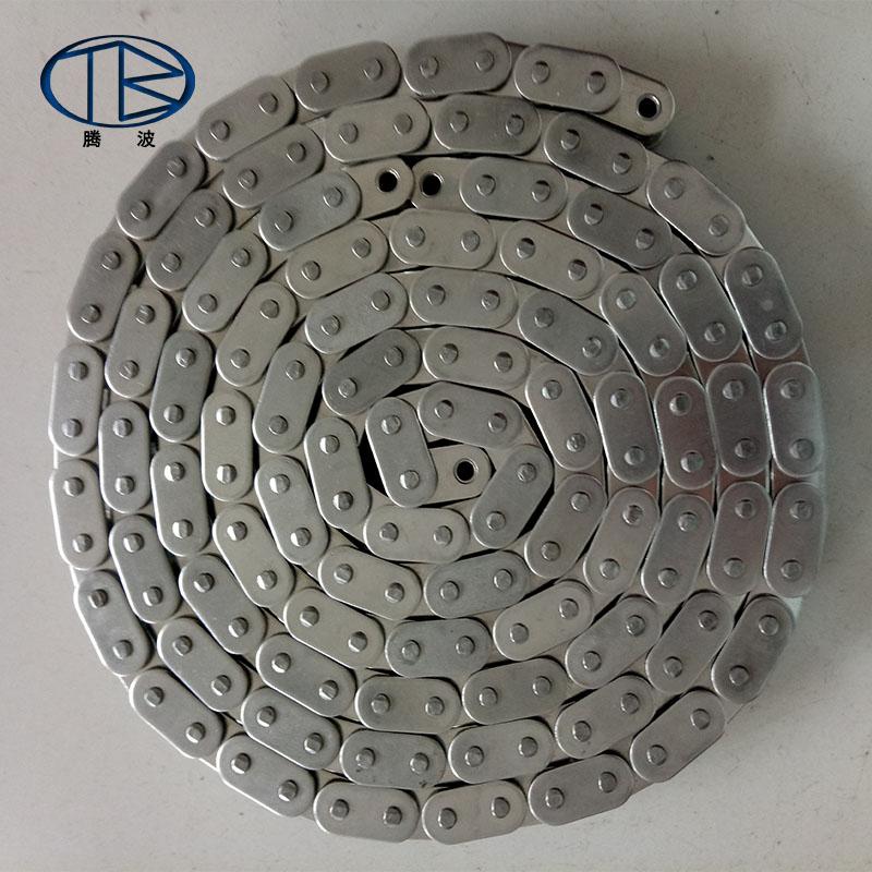 12b直板输送链条304不锈钢链非标定制双节距板式传动滚子链条