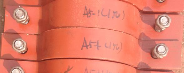 重型双螺栓管夹A6-1(125每100套近似重量(kg)