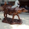 玻璃钢仿古铜牛雕塑图片