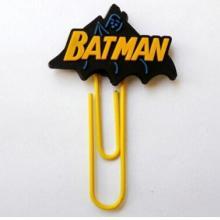 供应BATMAN回形针书签,PVC书签定做,快速打样开模