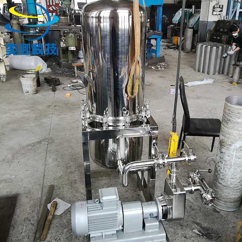 硅藻土过滤机 黄酒 啤酒过滤器 卫生级镜面抛光 可定制 大流量硅藻土过滤机