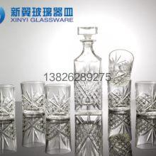 水晶玻璃红酒杯酒具套装玻璃威士忌杯带威士忌酒瓶