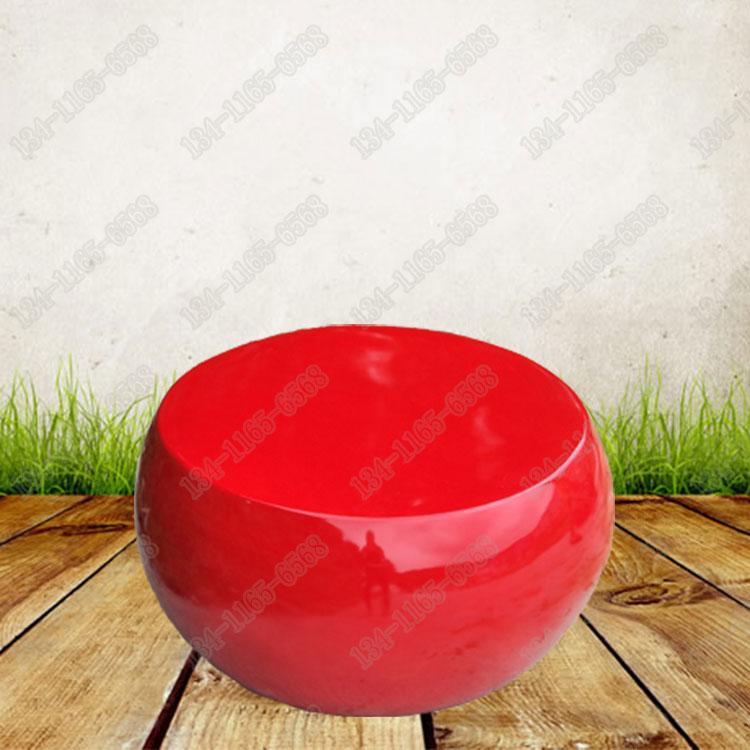 定制玻璃钢圆形座椅雕塑 时尚简约玻璃钢糖果座椅雕塑 玻璃钢休闲椅圆形坐凳厂家直销