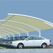膜结构停车棚户外汽车棚遮阳棚张拉图片