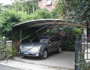 上海膜结构自行车停车棚汽车棚户外图片