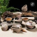 粗陶茶具套装图片