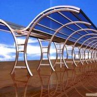 双开膜结构停车棚蓬篷非机动车汽车