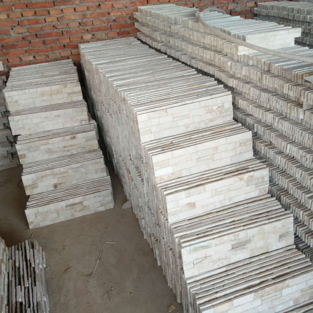天然石材白色文化石 白石英文化石 别墅外墙砖 电视背景墙系列图片