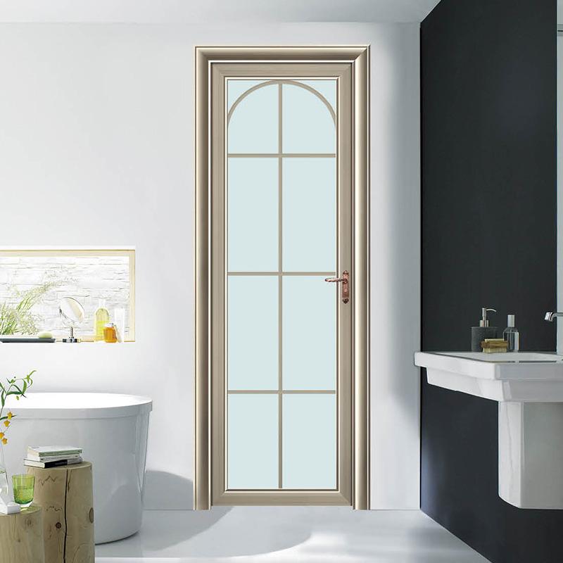 铝合金卫生间玻璃门 供应铝合金卫生间玻璃门厕所门厂家