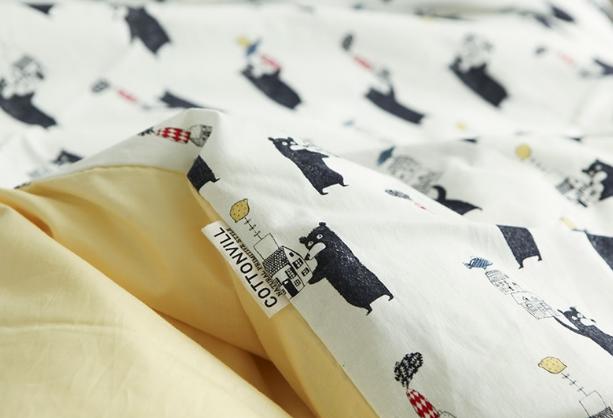 卡通图案棉布儿童服装床品卡通图案沙发布套diy手工印花