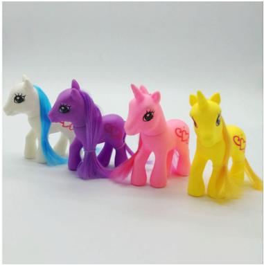 芭芘巴比搪胶小马 益智卡通玩具娃娃宠物马 多种颜色搪胶玩具小马