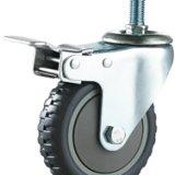 灰烽火单轴丝杆刹车轮 单轴刹车脚轮厂家 单轴刹车脚轮供货商 佛山单轴刹车脚轮