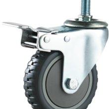 灰烽火单轴丝杆刹车轮 单轴刹车脚轮厂家 单轴刹车脚轮供货商 佛山单轴刹车脚轮批发